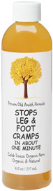 8 ounce bottle of Stops Leg & Foot Cramps
